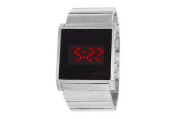 Axcent Stealth Watch, Metal Bracelet, Black Face, Red Numerals X59103-802