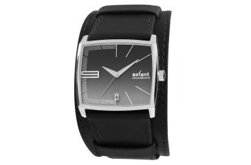 Axcent Dawn Watch, Black Strap, Charcoal Face, Silver Hands X70241-237