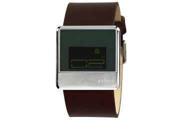 Axcent Unit Watch, Brown Strap, Black Face, Green Digits X91001-407