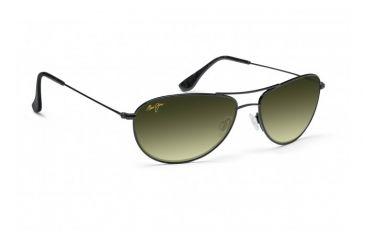 Maui Jim Baby Beach Sunglasses w/ Gloss Black Frame and Maui HT Lenses - HTS245-02, Quarter View