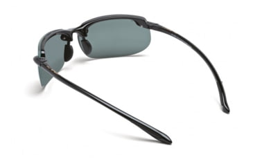 Maui Jim Banyans Sunglasses w/ Gloss Black Frame and Neutral Grey Lenses - 412-02, Back View