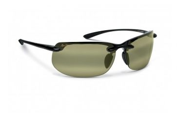 Maui Jim Banyans Sunglasses w/ Gloss Black Frame and Maui HT Lenses - HT412-02, Quarter View