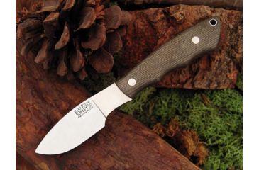 Bark River Mini Canadian Fixed Blade Knife,2.75in,A-2 Tool Steel Blade,Green Canvas Micarta Handle BA133MGC