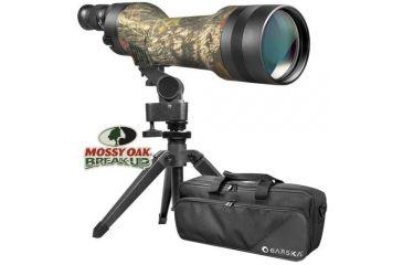 Barska Spotter Pro 22-66x80 Straight-Body Spotting Scope - Mossy Oak Camo, w/ Tripod, Case AD11116