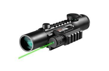 Barska 4x28 IR Electro Sight, GLX Green Laser, Front AC11322-CO