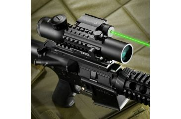 Barska 4x28 IR Electro Sight, GLX Green Laser, Mounted AC11322-CO