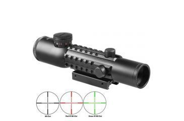 Barska 4x28 IR Electro Sight w/ GLX Green Laser, IR Diagram AC11322-CO