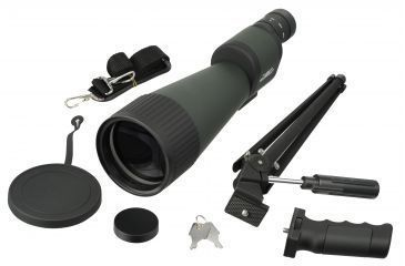 Barska 25-125x88 WP, Benchmark Spotting Scope, Straight, w/ 2 Tripods, Soft & Hard Case
