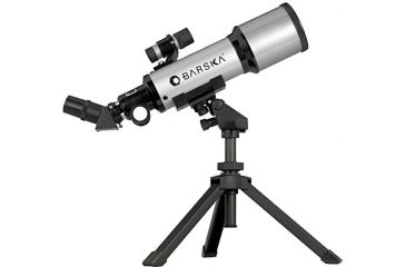 Barska 40070, 88x Compact Refractor Telescope, 400mm x 70mm Telescope w/ Table Top Tripod & Carrying Case - AE10100