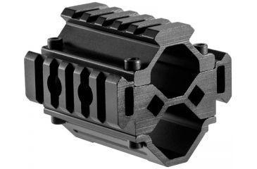 Barska Double Shotgun barrel Mount, Tri-Rail, 5 sections, Black AW12012