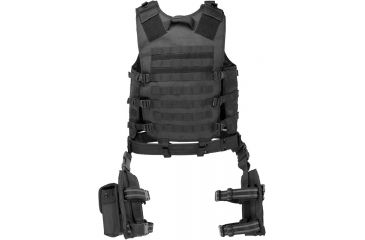 Barska Loaded Gear VX-100 Tactical Vest and Leg Platform, Black BI12016