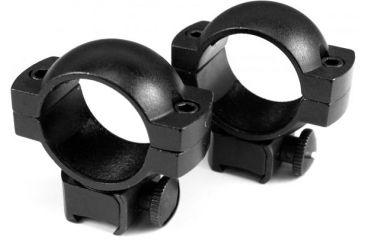 Barska Riflescope Rings - 1in, High Height, Matte Black, Dovetail See-Thru, Airgun .22 - AI10344