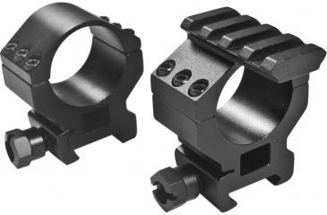 Barska Riflescope Rings - 30mm w/ 1in Insert, Standard Height, Picatinny Rail, See-Through Base - AI11484