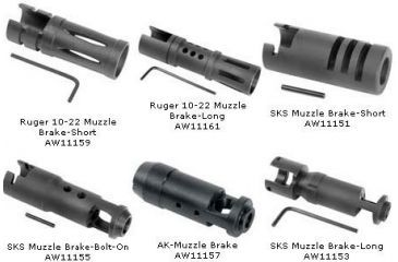Barska Muzzle Brakes for Rifles - Rifle Attachments