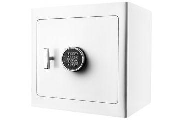 1-Barska White Keypad Jewelry Safe, Light Interior