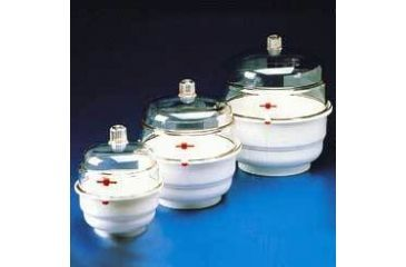 Bel-Art Space Saver Vacuum Desiccators, SCIENCEWARE 420100000 Polypropylene Bottom