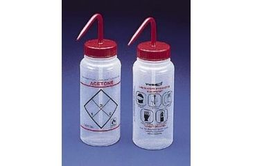 Bel-Art Safety Wash Bottles, Low-Density Polyethylene, Wide Mouth 116462631 500 Ml (17 oz.) Capacity