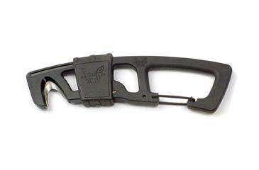 Benchmade 9CB Hook Safety Cutter w/ Carabineer Clip & Bottle Opener, Black 9 CB-BLK