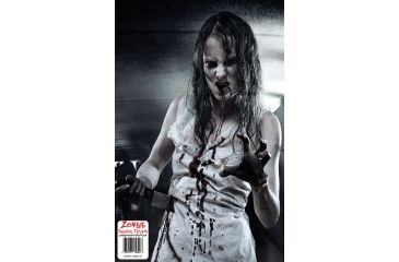 BenchMaster Zombie Shooting Targets - Girl Bloody Knife - 10 pack ZST-07Z