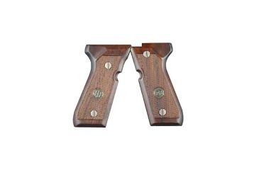 Beretta 84f, Wood Grips Point Checkered W/ Medallion JG84FW