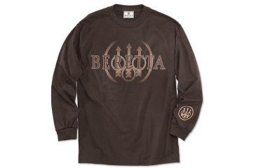 Beretta Mens Trident Logo Long Sleeve Shirt, Coffee, 2XL TS7270850848XXL