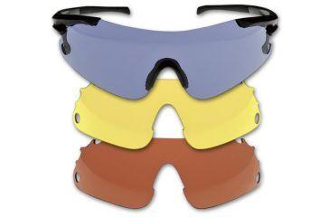 Beretta Trident Shooting Glasses , Yellow/Red/Blue Smoke OC7000010009