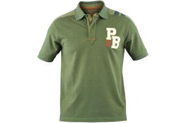 Beretta Two Tone Sport Polo Shirt, Green Forest, Small MP187207072CS