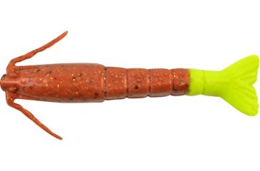 Berkley Gulp! Shrimp Bait, 3in., New Penny/Chartreuse 177348