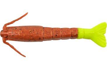 Berkley Gulp! Shrimp Bait, 4in., New Penny/Chartreuse 177354