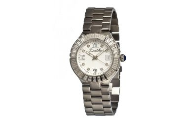 Bertha Evelyn Ladies Watch, Silver Metal Band, Crystals Bezel, Silver Analog Dial, Silver Hand BTHBR1704