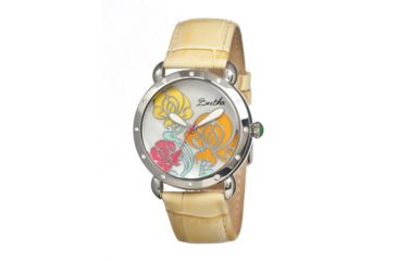 Bertha Josephine Ladies Watch, Cream Leather Band, Silver Bezel, Multicolor Analog Dial, Silver Hand BTHBR1504
