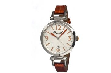 Bertha Lilah Ladies Watch, Brown Leather Band, Silver Bezel, Silver Analog Dial, Brown Hand BTHBR1002