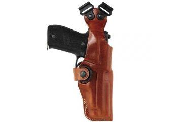 Bianchi 1.5inch Leather Belt, 42, Black, Chrome Buckle - 25802