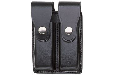 Bianchi 20C Double Magazine Pouch - Plain Black, Brass 15257