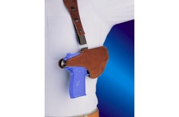 2-Bianchi 215 Hawk Shoulder Holster - Suede, Left Hand 15552