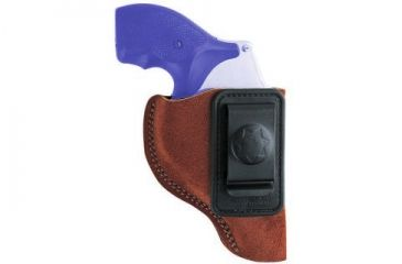 Bianchi 6 Waistband Holster - Rust Suede, Left Hand 10377