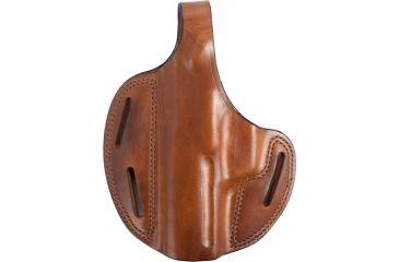 Bianchi 7 Shadow II Leather Belt Holster - Plain Tan, Left Hand