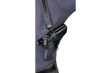 Bianchi 7700 LeatherLite Shoulder System - Black, Right Hand 19842