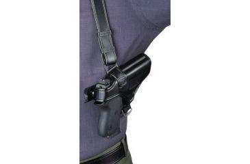 Bianchi 7700 LeatherLite Shoulder System - Black, Right Hand 19800