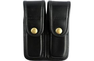Bianchi 7902 Double Mag Pouch, Plain Black, Brass Snap 22192