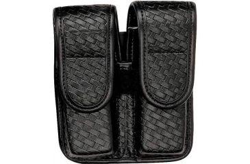 Bianchi 7902 Double Mag Pouch - Plain Black, Hidden 22078