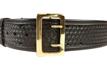 Bianchi 7960 AccuMold Elite Sam Browne Belt - Basket Black, Brass, Waist Size 32-34in, 22246