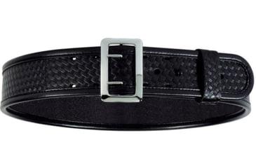 Bianchi 7960 AccuMold Elite Sam Browne Belt - Plain Black, Chrome 22214