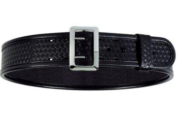 Bianchi 7960 AccuMold Elite Sam Browne Belt - Plain Black, Chrome 22222