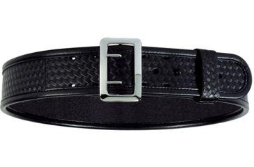 Bianchi 7960 AccuMold Elite Sam Browne Belt - Plain Black, Chrome 22228