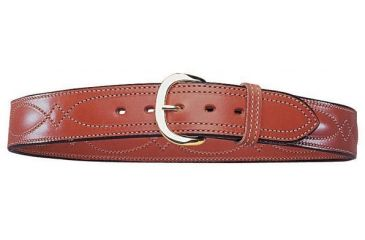 Bianchi B21 Contour Belt - Plain Tan, Brass 13726