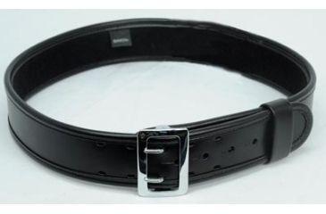 Bianchi 7960 AccuMold Elite Sam Browne Belt - Plain Black, Chrome, Size 36-38in, 22220
