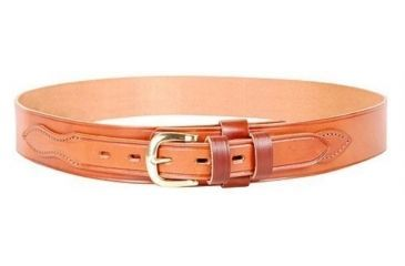 1-Bianchi B4 Ranger Belt - Basket Tan, Brass Buckle