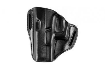 Bianchi 57 Remedy Leather Pancake Holster, Glock 17, 22, 31 - Black, Left Hand