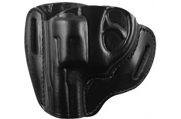 Bianchi 57 Remedy Leather Pancake Holster, Ruger Lcr .38 - Black, Left Hand